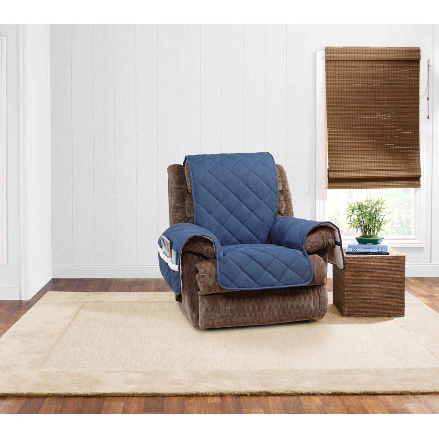 84 patio sofa cover milari bed sure fit denim sherpa recliner slipcover - walmart.com
