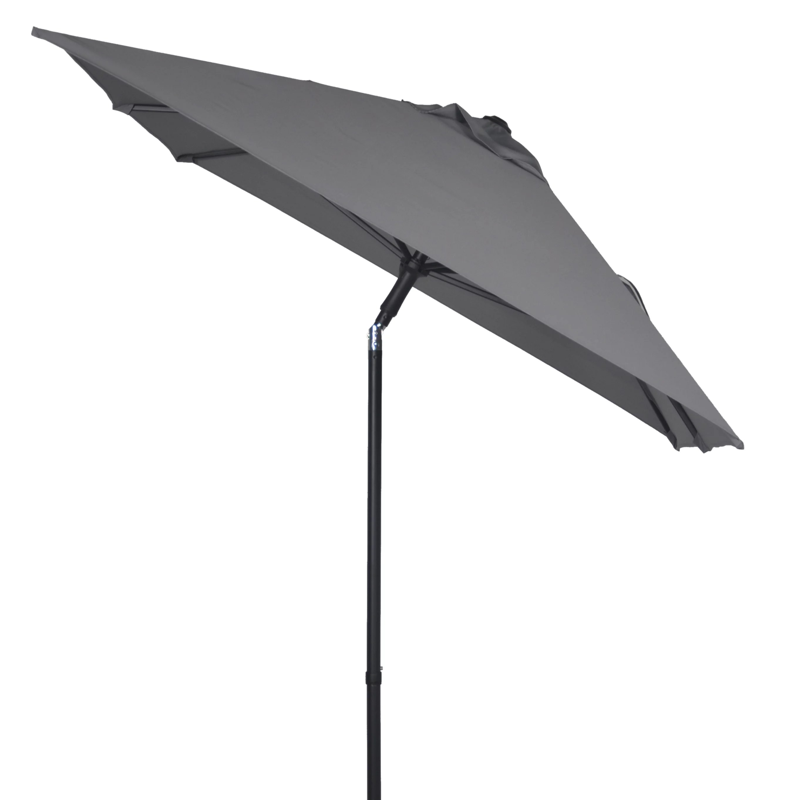 mainstays 5 5 x 6 5 rectangular outdoor market patio umbrella gray