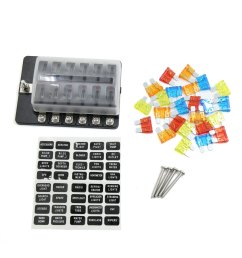 dc 12v red indicator 12 ways screw terminal fuse box holder for car walmart com [ 1100 x 1100 Pixel ]