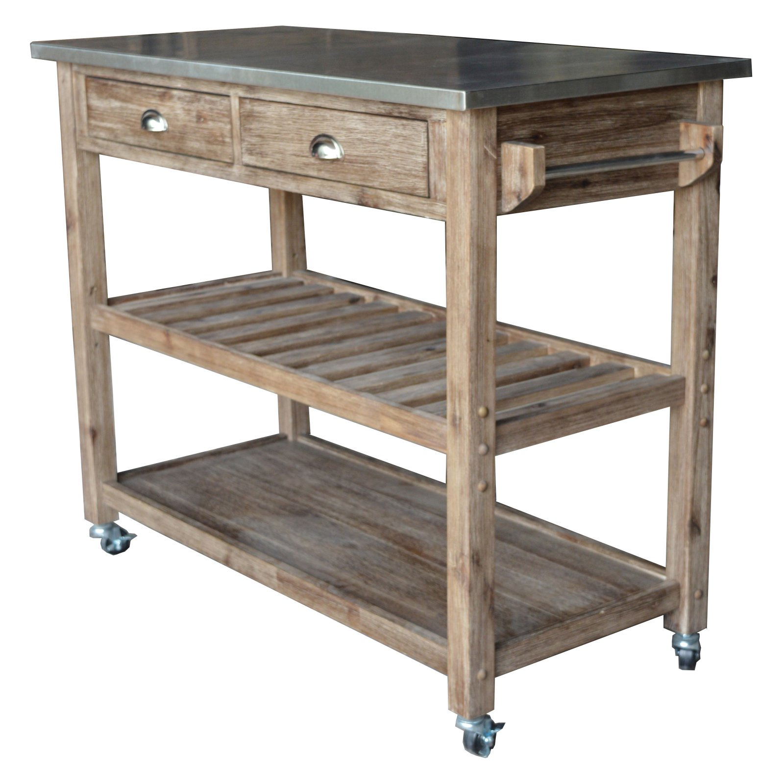 kitchen cart table moen oil rubbed bronze faucet boraam industries sonoma wire brush gray finish walmart com