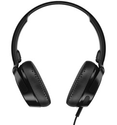 skullcandy s5pxy l003 riff on ear wired headphones with microphone black  [ 1500 x 1500 Pixel ]