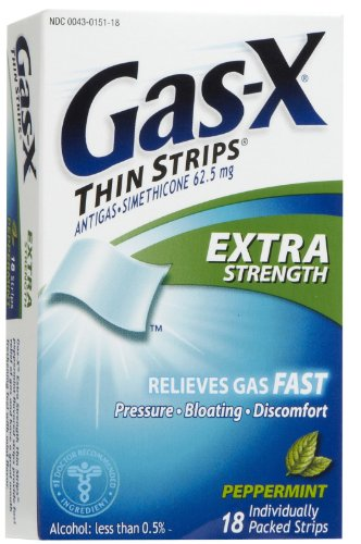 Gas-X Thin Strips Extra Strength Peppermint 18 Each (Pack ...