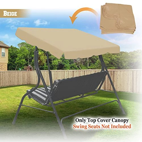 new 73 x52 swing canopy replacement porch top cover seat patio outdoor furniture beige