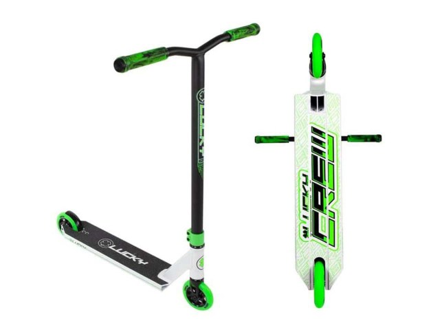 Lucky Scooter 2019 Crew White/Green Complete Pro Scooter ...