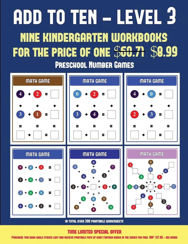 Preschool Number Games Preschool Number Games Add To Ten