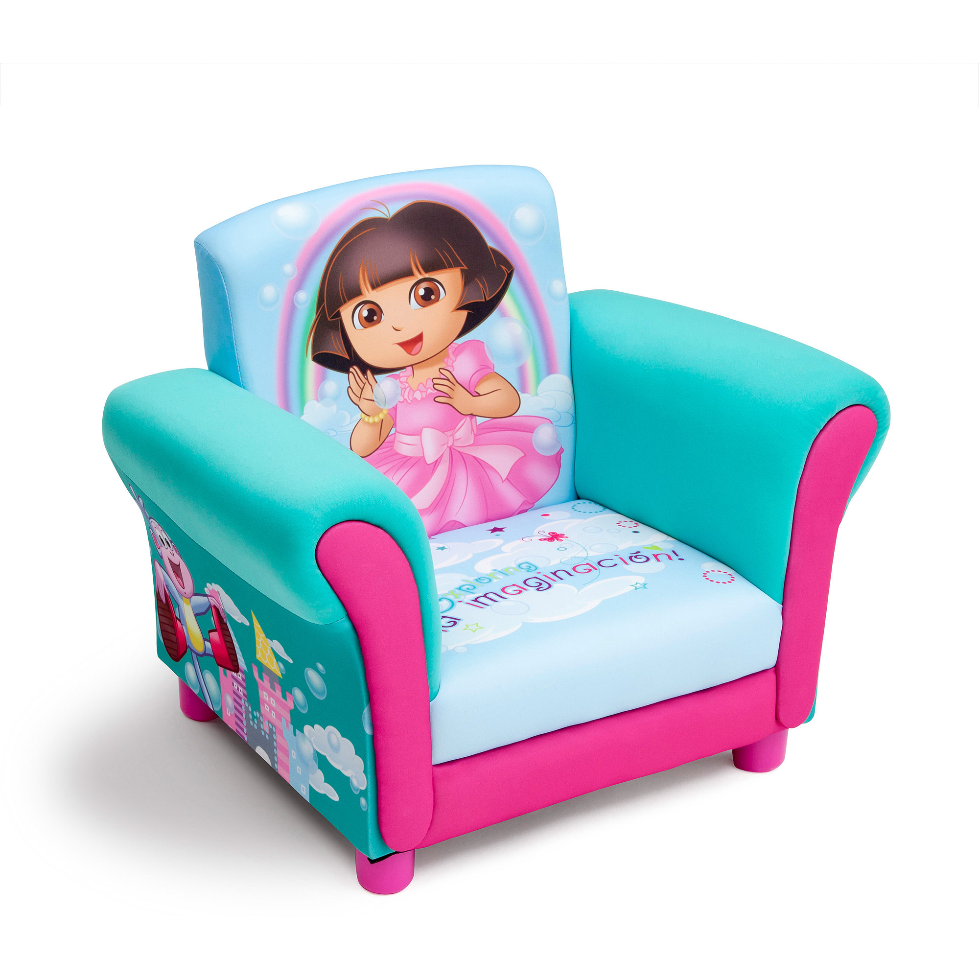 Toddler Chairs Upholstered Details About New Dora The Explorer Kids Upholstered Chair Children Toddler Plush Seat Sofa