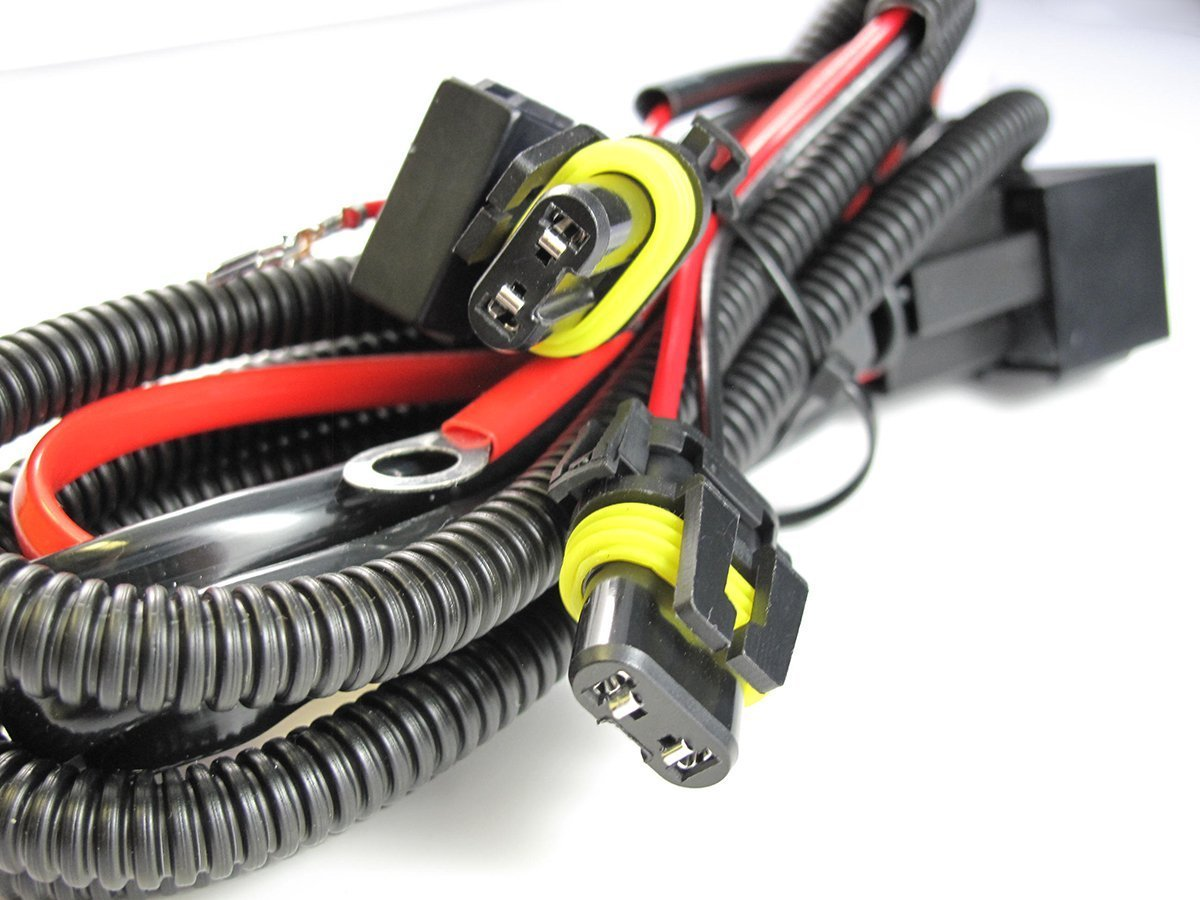 hight resolution of xotic tech 9005 9006 relay wiring harness for hid conversion kit add on fog light led drl walmart com
