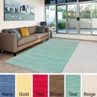 Surya Carpet, Inc. Hand-Woven Mya Solid Cotton Rug (4'9 x ...