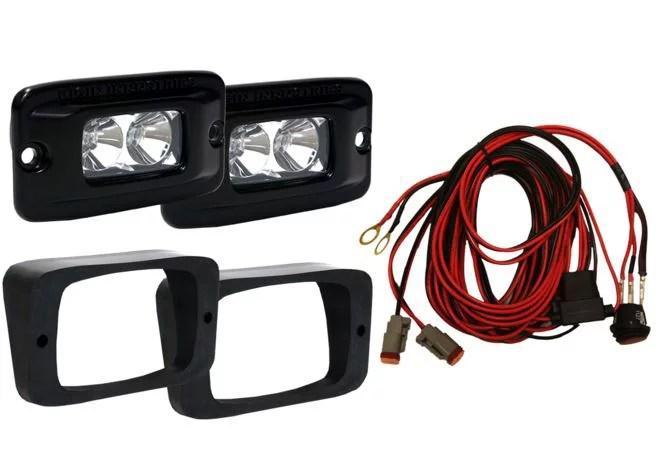 rigid lighting 465623 driving fog light led driving fog light 15 watts 1 07 amp draw 1584 raw lumens includes two lights two light mounts wiring  [ 2000 x 2000 Pixel ]