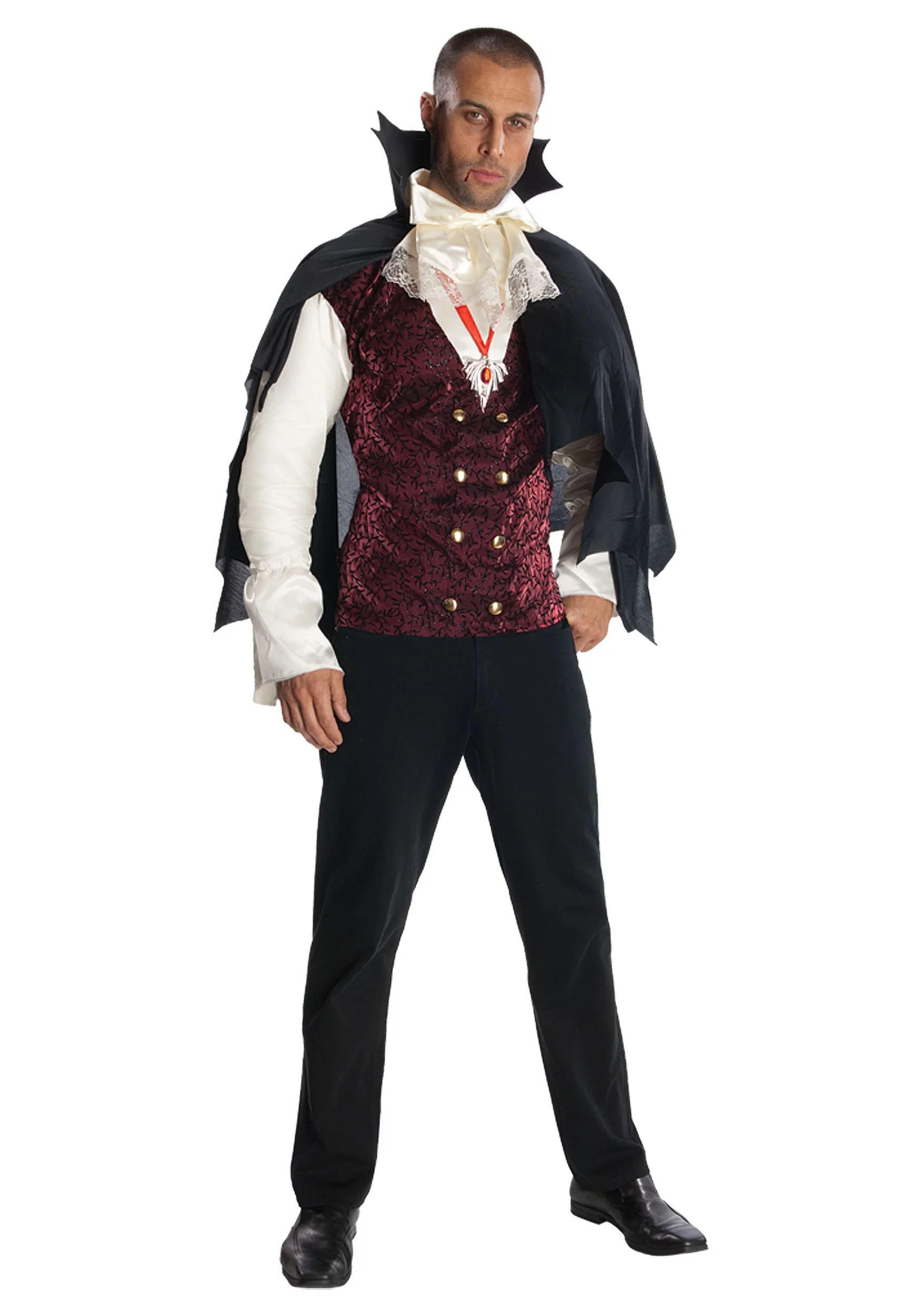 Sexy Male Vampire Costume : vampire, costume, Vampire, Count, Costume, Walmart.com