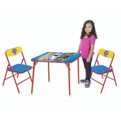 3 Piece Table And Chair Set Black White Desk Nickelodeon Paw Patrol Walmart Com