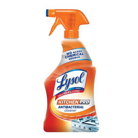 lysol antibacterial kitchen cleaner white distressed table pro spray 22oz no harsh chemicals walmart com