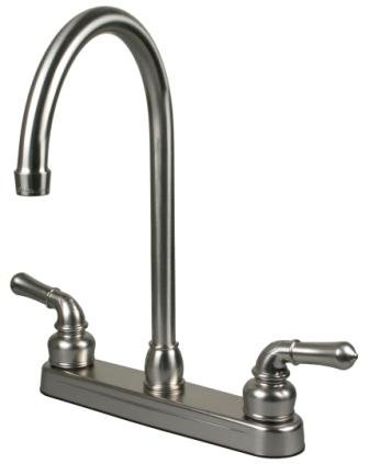 rv mobile home kitchen sink faucet with 14 5 tall spout stainless steel