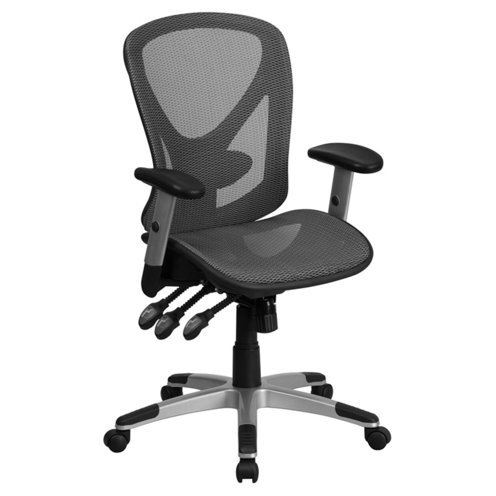 chair design back angle wheelchair kid flash furniture mid gray mesh executive swivel office with and height adjustment walmart com