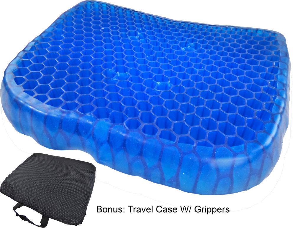 gel cushion for chairs chair webbing straps egg honeycomb seat ergonomic orthopedic cooling pressure absorbing flexible back support