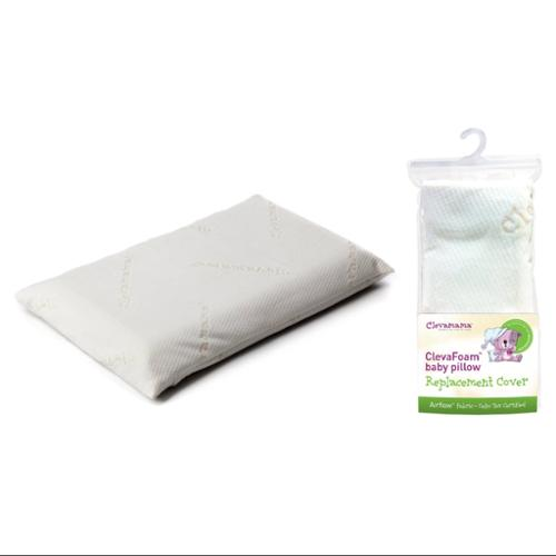 Clevamama ClevaFoam Baby Pillow with Replacement Pillow