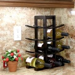 Kitchen Cabinet Stores Organize My Oceanstar 12-bottle Dark Espresso Bamboo Wine Rack Wr1132 ...