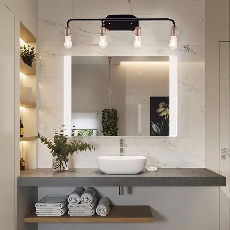 vanity art vintage bathroom vanity light 4 lights wall light fixtures indoor wall mount lamp shade for bathroom vanity mirror