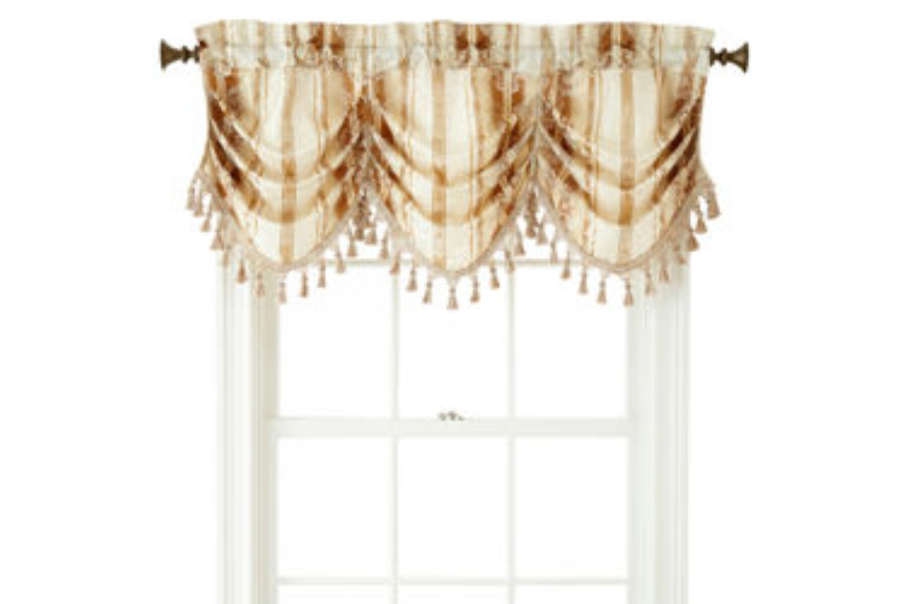 jcpenney home regan rod pocket tuck valance dimensions 20 inches width x 54 inches length gold dust multi