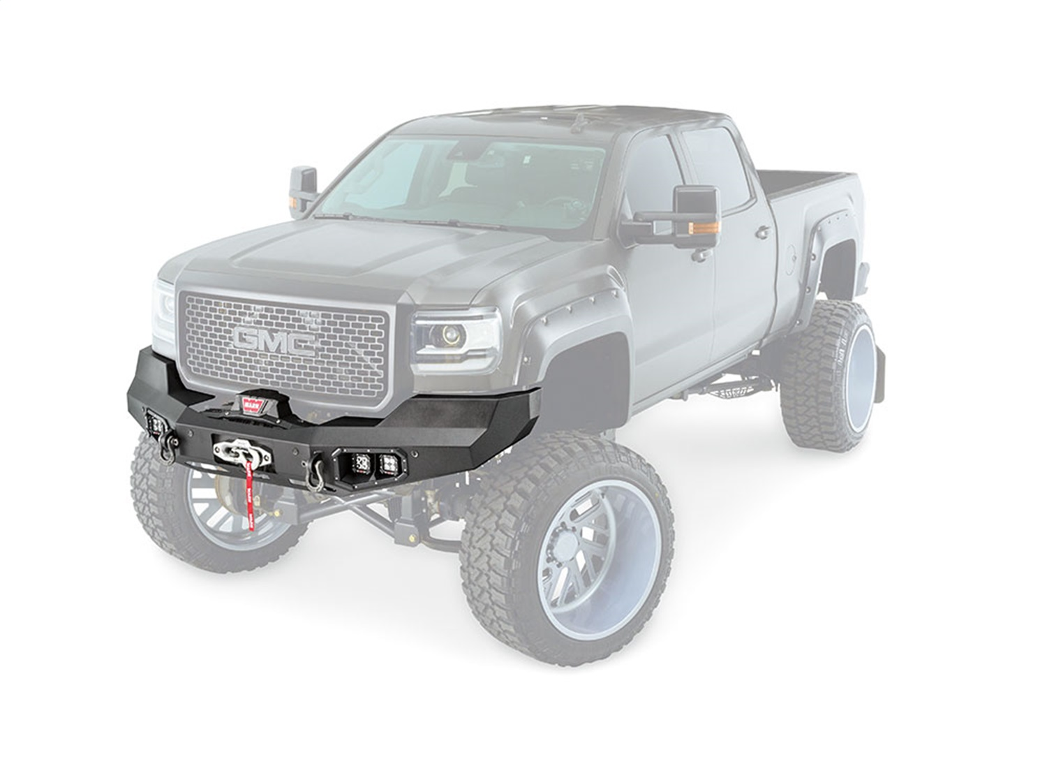 hight resolution of warn 99152 ascent front bumper for mid frame winches 12000 lbs and under walmart com