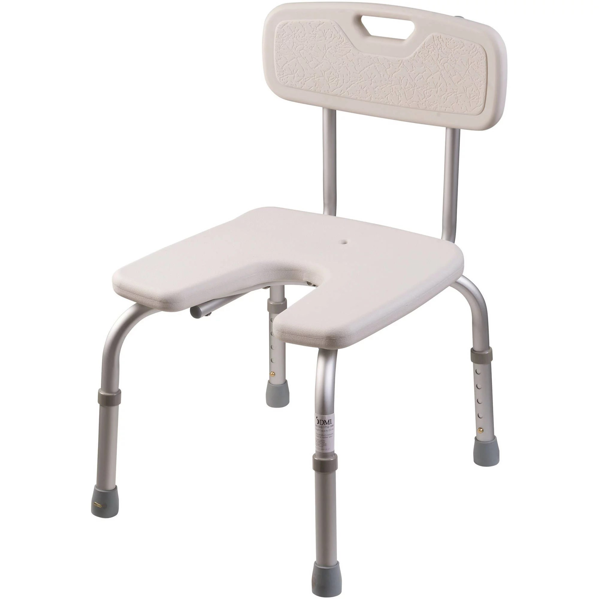 handicap shower chair rush seat dmi with removable back for seniors and elderly u shape bath bench
