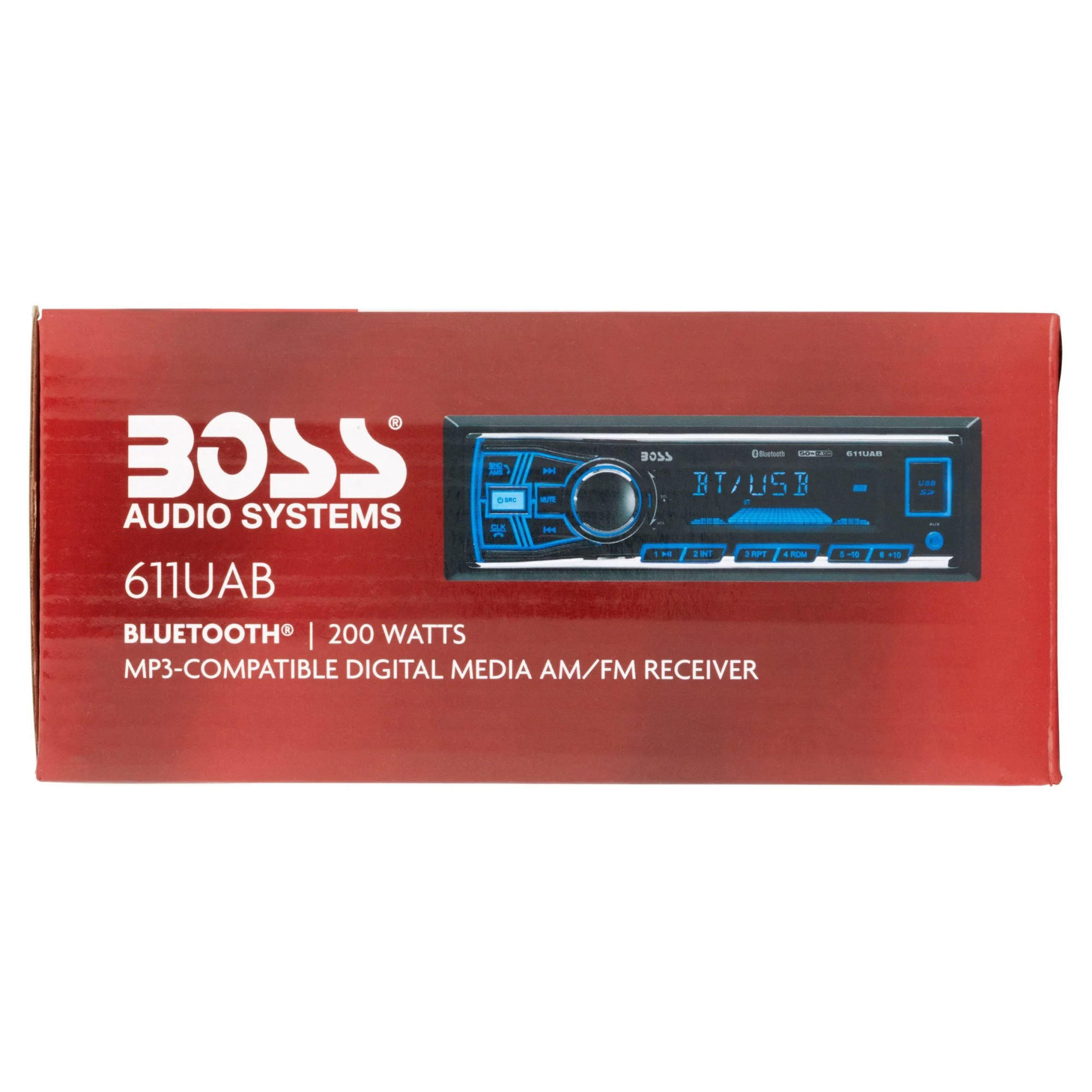 hight resolution of boss 611uab boss audio 611uab single din mech less receiver bluetooth in dash mp3 wma am fm 12 18 x am fm preset sd bluetooth usb