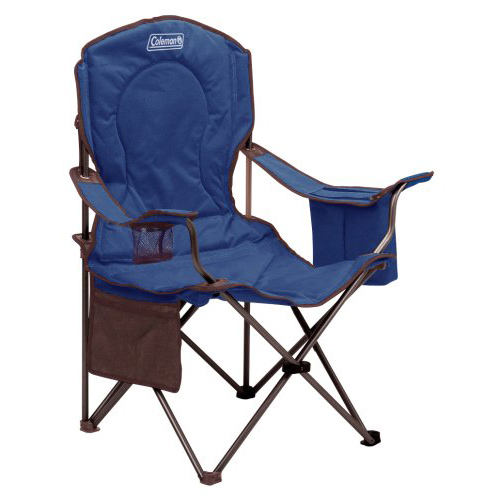 Coleman Oversized Quad Chair With Cooler  Blue Adult Quad