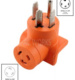 ac works ad1430l620 dryer outlet adapter nema 14 30p 30amp dryer plug to l6 20r 20amp 250volt locking female connector walmart com [ 2912 x 3551 Pixel ]