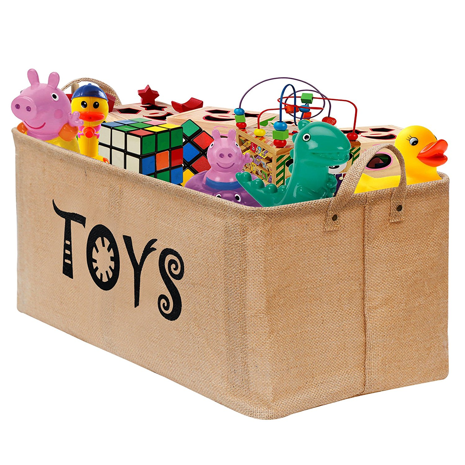 Gimars Easy Carrying 22x12 Well Standing Toy Chest