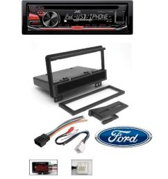 cj1282b single din radio install kit wires for dodge car stereo dash mount jvc kd r670 cd mp3 wma player pandora radio android iphone integration usb aux [ 1000 x 1000 Pixel ]