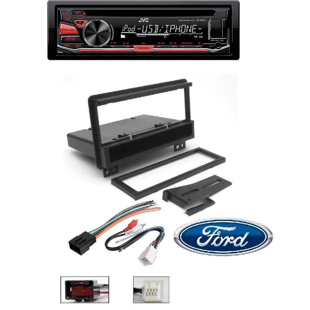 hight resolution of cj1282b single din radio install kit wires for dodge car stereo dash mount jvc kd r670 cd mp3 wma player pandora radio android iphone integration usb aux