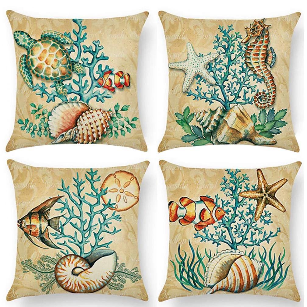 4pcs pillow decorative for sofa cushion