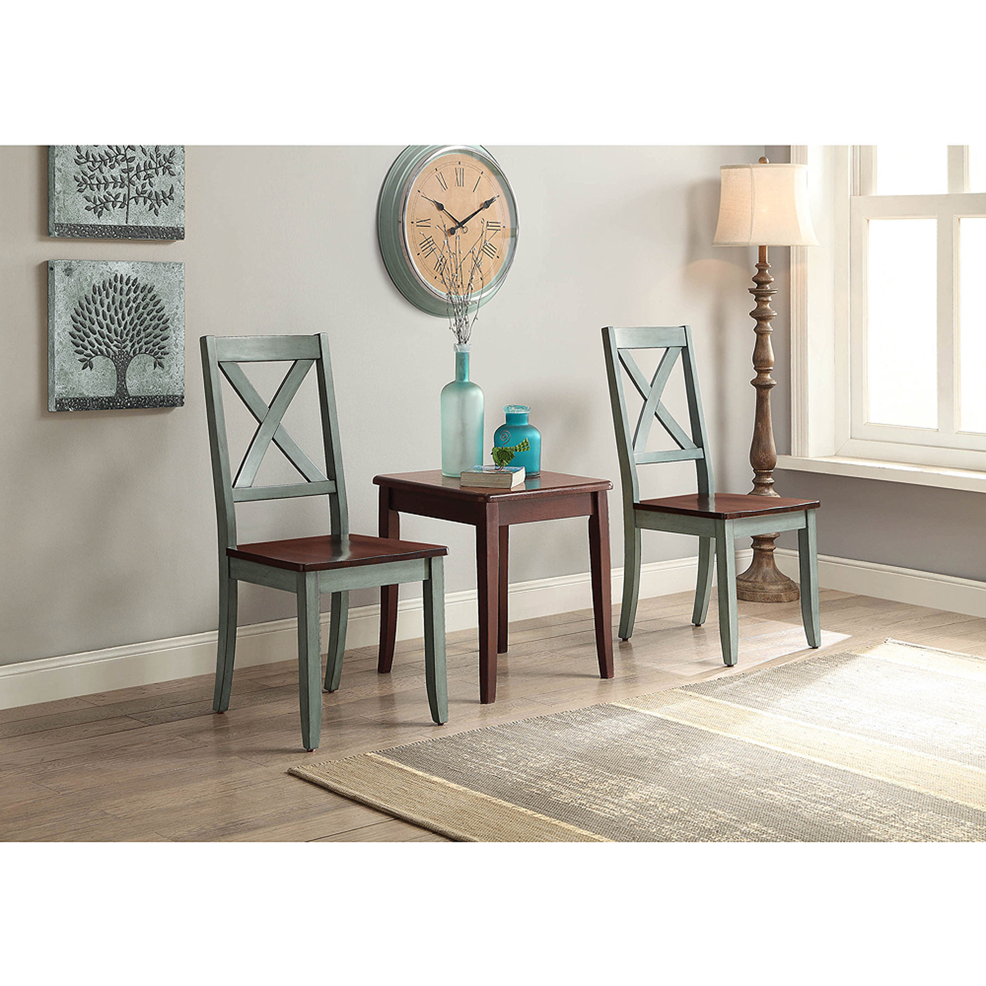 2 chair dining set clear ikea better homes and gardens maddox crossing blue of walmart com