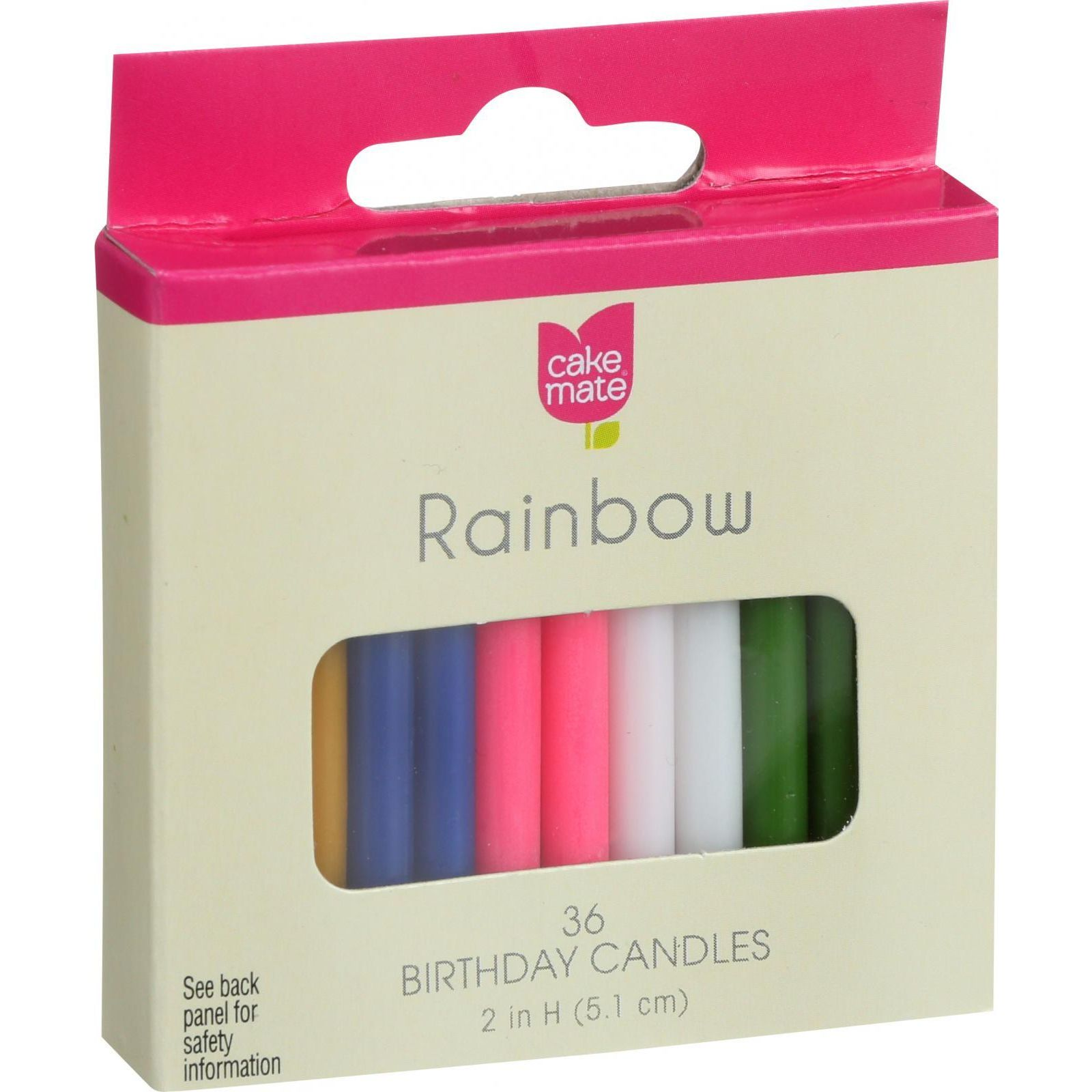 Cake Mate Birthday Party Candles Rainbow 2 in x 316