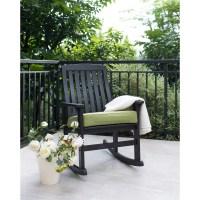 Delahey Wood Porch Rocking Chair