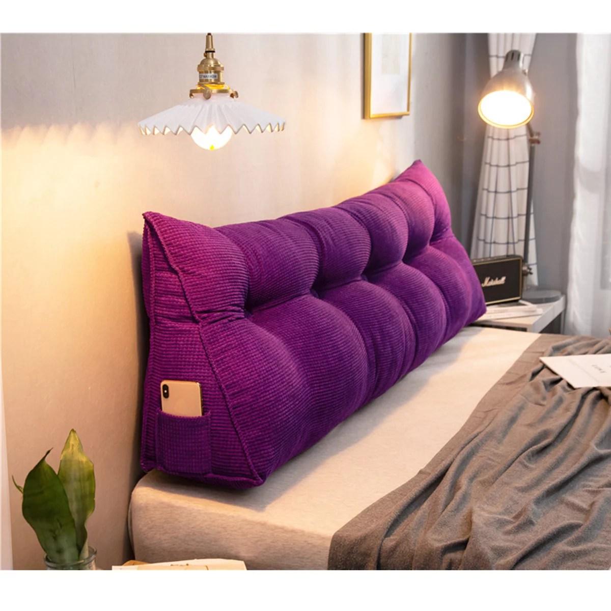 39 47 59 home decor large wedge triangular pillow cushion bedside pillow bed backrest waist support pillow reading pillow office lumbar pad