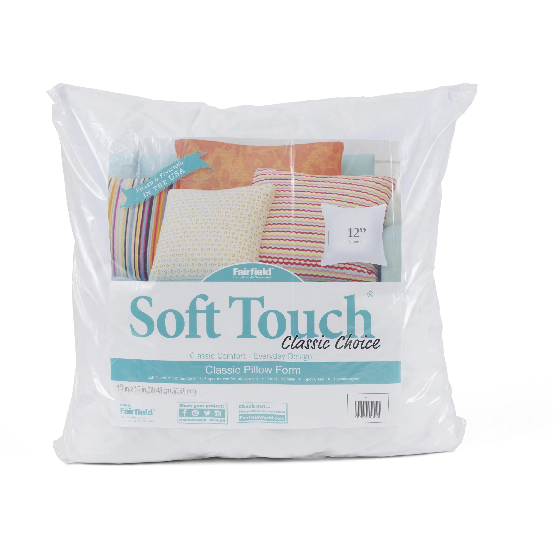 fairfield soft touch decorative pillow insert 12 x 12