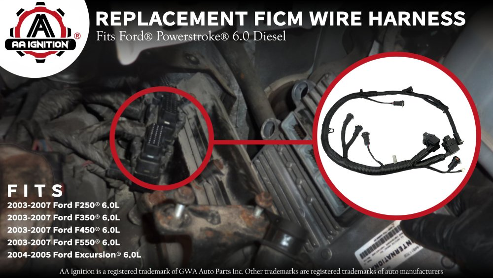medium resolution of ficm engine fuel injector complete wire harness replaces partficm engine fuel injector complete wire harness replaces part 5c3z9d930a ford powerstroke 6 0l