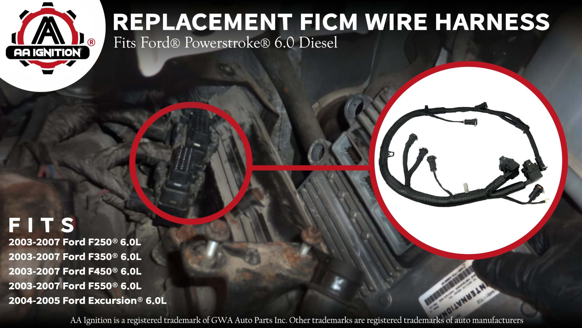 hight resolution of ficm engine fuel injector complete wire harness replaces partficm engine fuel injector complete wire harness replaces part 5c3z9d930a ford powerstroke 6 0l