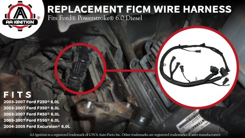 small resolution of ficm engine fuel injector complete wire harness replaces partficm engine fuel injector complete wire harness replaces part 5c3z9d930a ford powerstroke 6 0l