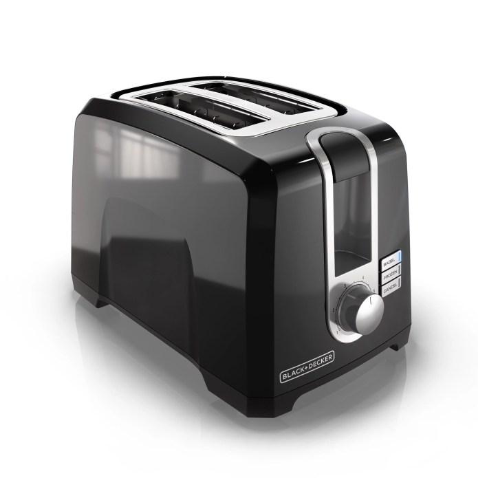 BLACK+DECKER 2-Slice Extra Wide Slot Toaster, Black