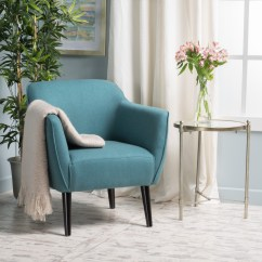 Dark Teal Accent Chair Steel Growtopia Noble House Val Mid Century Modern Walmart Com