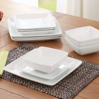 Better Homes and Gardens Porcelain Coupe Square 12-Piece ...