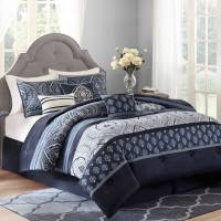 Better Homes and Gardens Indigo Paisley 7 Piece Bedding ...