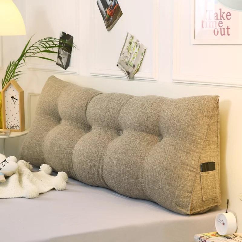 47 59 70 inch triangular reading pillow large headboard reading pillow cushion bolster headboard backrest positioning support wedge pillow ergonomic