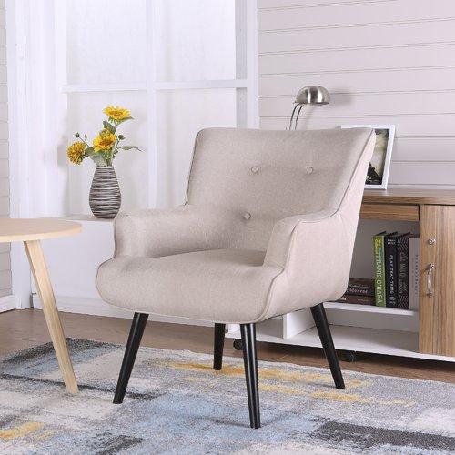 accent wingback chairs office max desk chair ocean bridge furniture alicia beige walmart com
