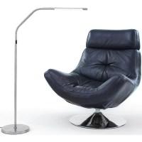 Slimline LED S Floor Lamp, Brushed Chrome - Walmart.com