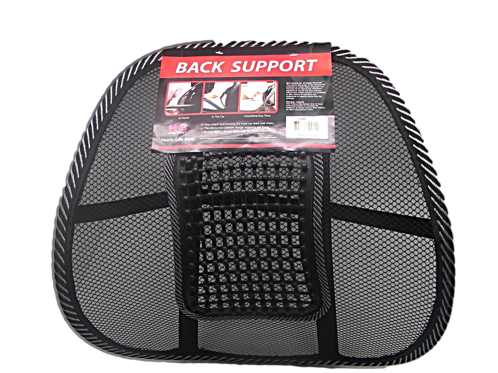 Back Supports For Chairs Car Seat Chair Office Massage Lumbar Back Brace Mesh Cushion Support With Beads