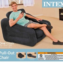 Intex Inflatable Pull Out Chair Twin Bed Designer Covers To Go New Walmart Com