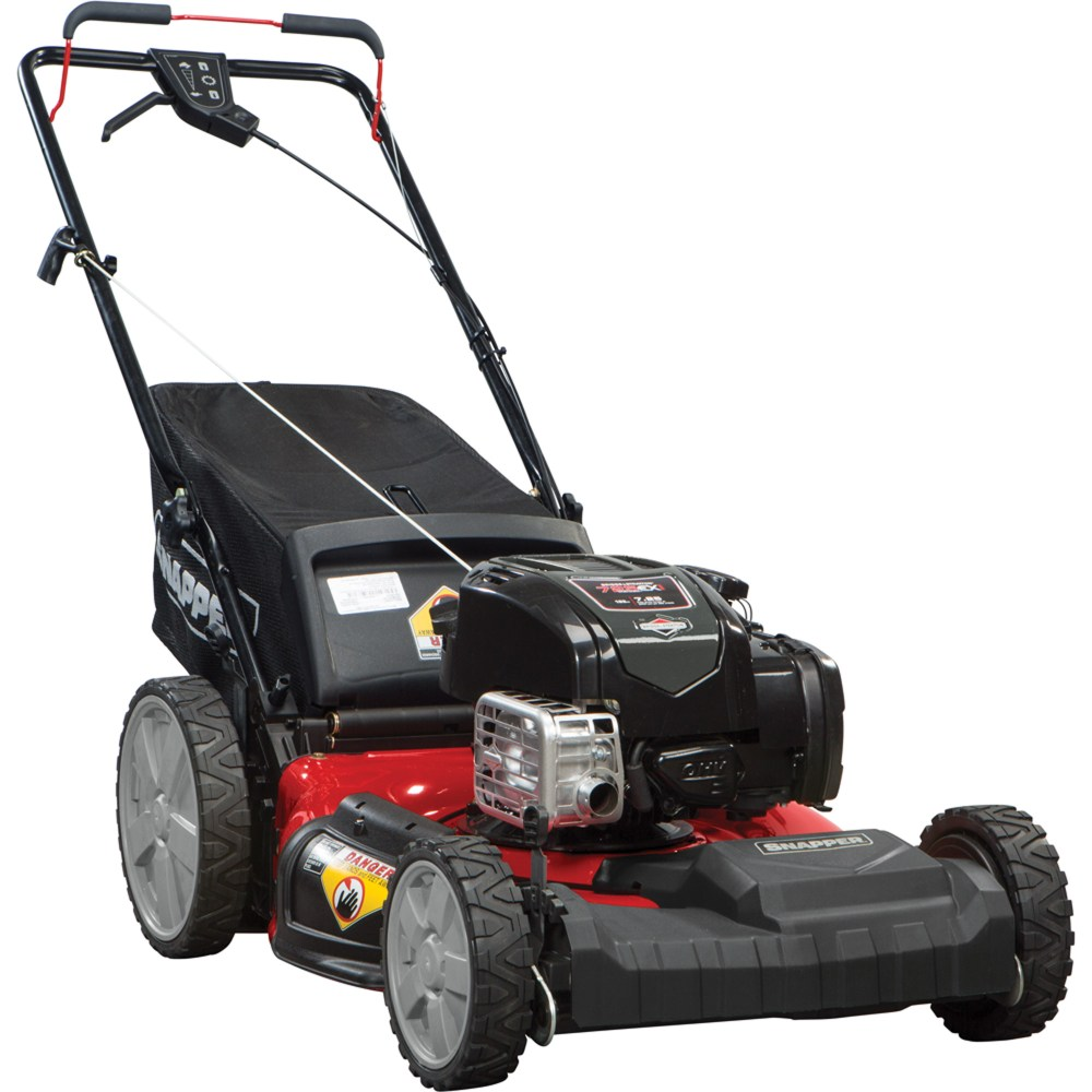 medium resolution of snapper 21 self propelled gas mower with side discharge mulching rear bag and rear high wheel walmart com
